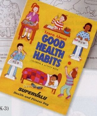Learn About Good Health Habit Coloring & Activities Book (Bilingual)