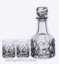 Sofiero Crystal Dof Glasses & Decanter Set By Gunnar Cyren
