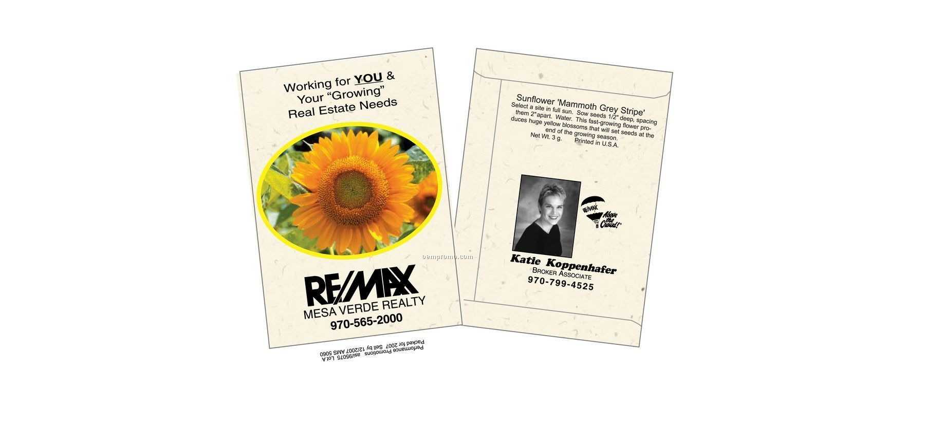 Sunflower- Mammoth Gray Stripe - Seed Packet (1 Color)