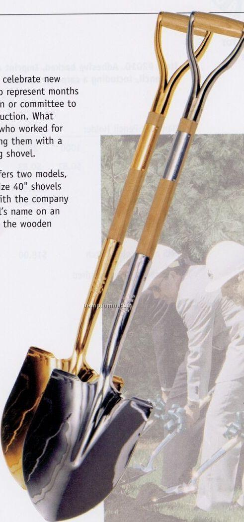 """40"""" Ceremonial Shovel (Chrome Or Gold)"""