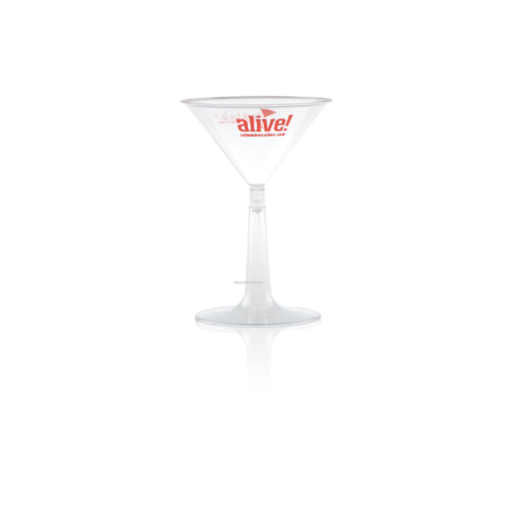 6 Oz. Clear Plastic Martini Glass