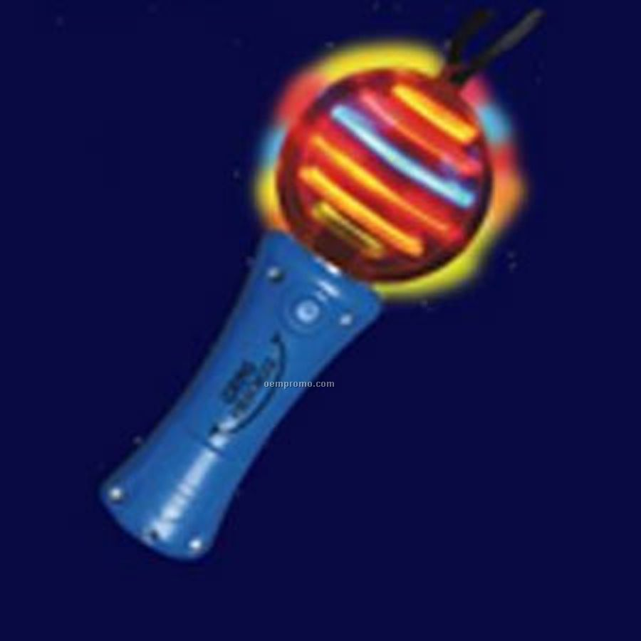 Blue light up spinning wand with multi colored led china for Led wands wholesale
