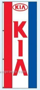 Double Face Dealer Interceptor Drape Flags - Kia