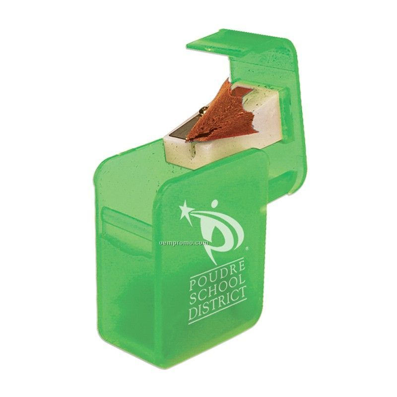 Rectangular Pencil Sharpener - Green Only