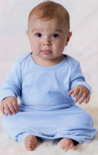 Bella Baby 1x1 Rib Long Sleeve Infant Sleeper Gown