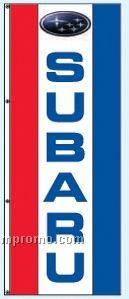 Double Face Dealer Interceptor Drape Flags - Subaru