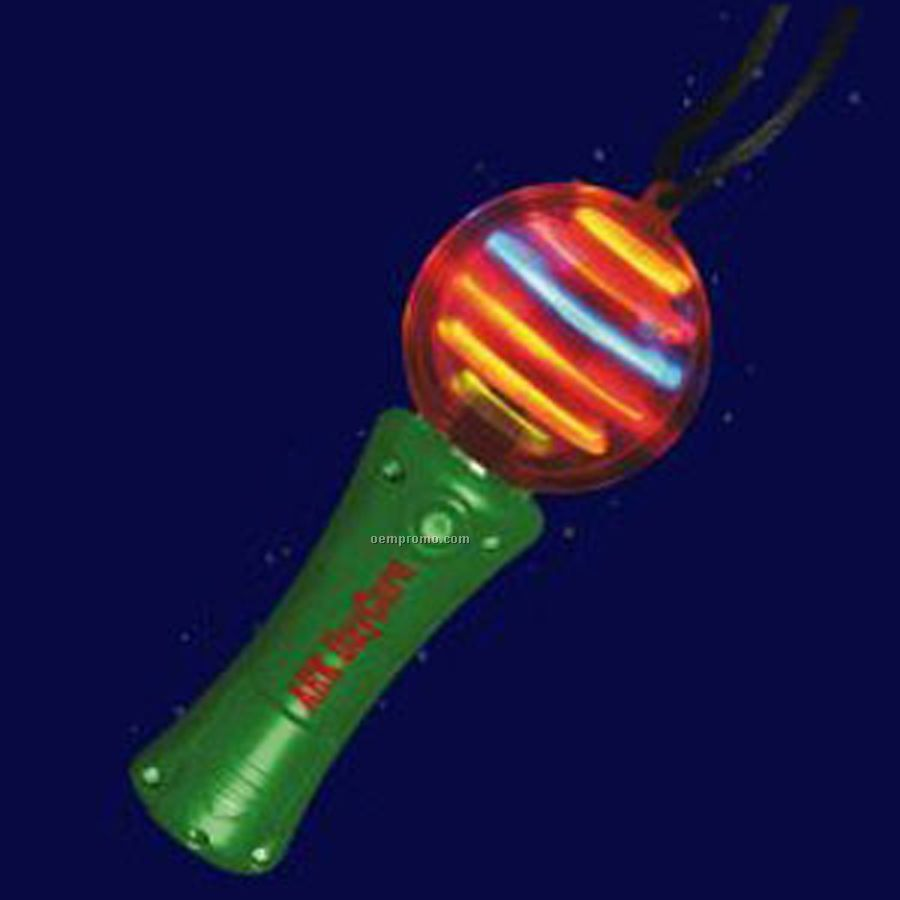 Green light up spinning wand with multi colored led china for Light up wand