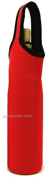 Red Neoprene Bottle Sleeve - Single