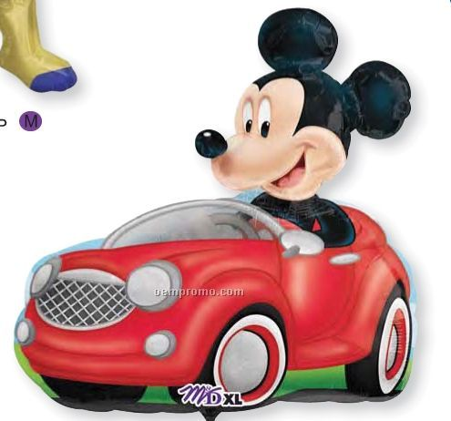 "28"" Mickey Driving Car Balloon"