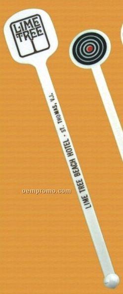 """Billboard Drink Stirrer W/ Square Top - 1 Color Top Imprint (6"""")"""