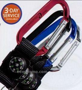 Carabiner W/ Compass Key Tag