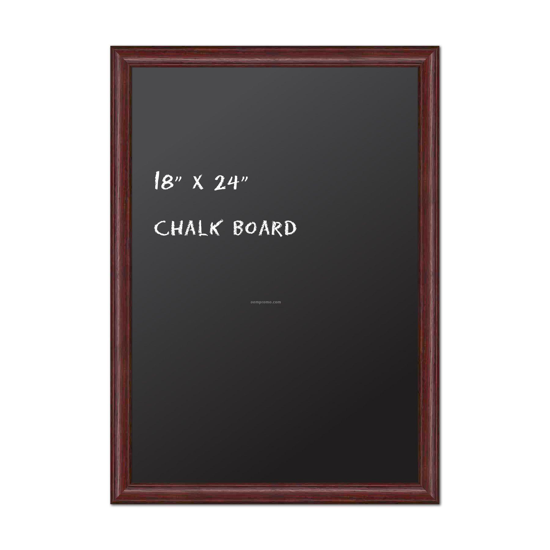 "Chalk Board 18"" X 24"". Real Wood Frame - Cherry Finish."