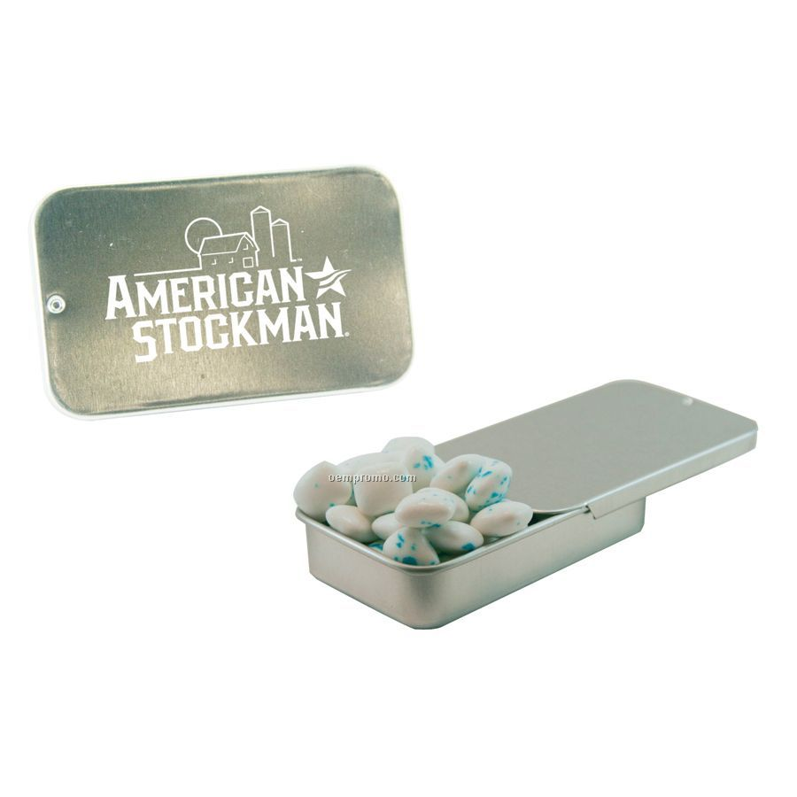 Silver Slider Tin With Sugar Free Gum