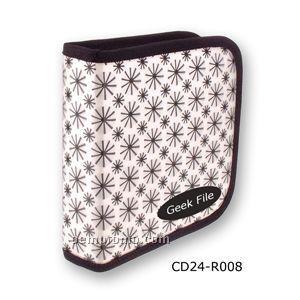 White/Black 3d Lenticular CD Wallet/ Case - 24 Cd's