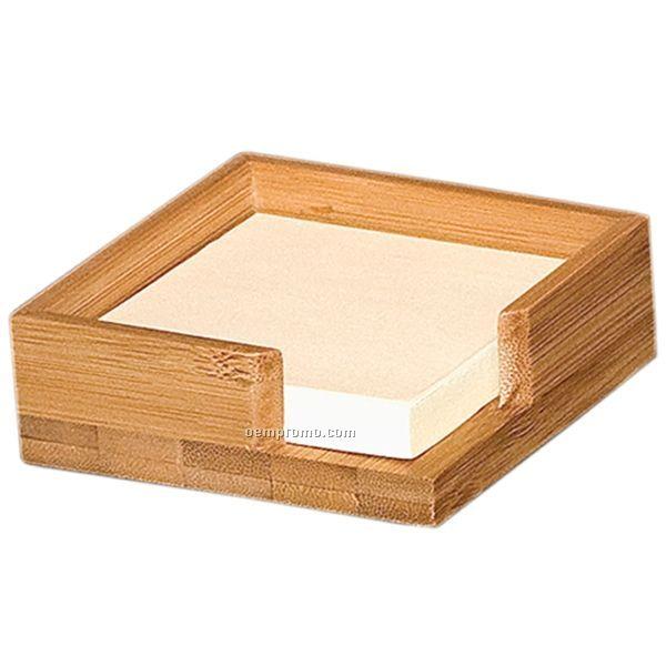 Bamboo Memo Holder (Blank)