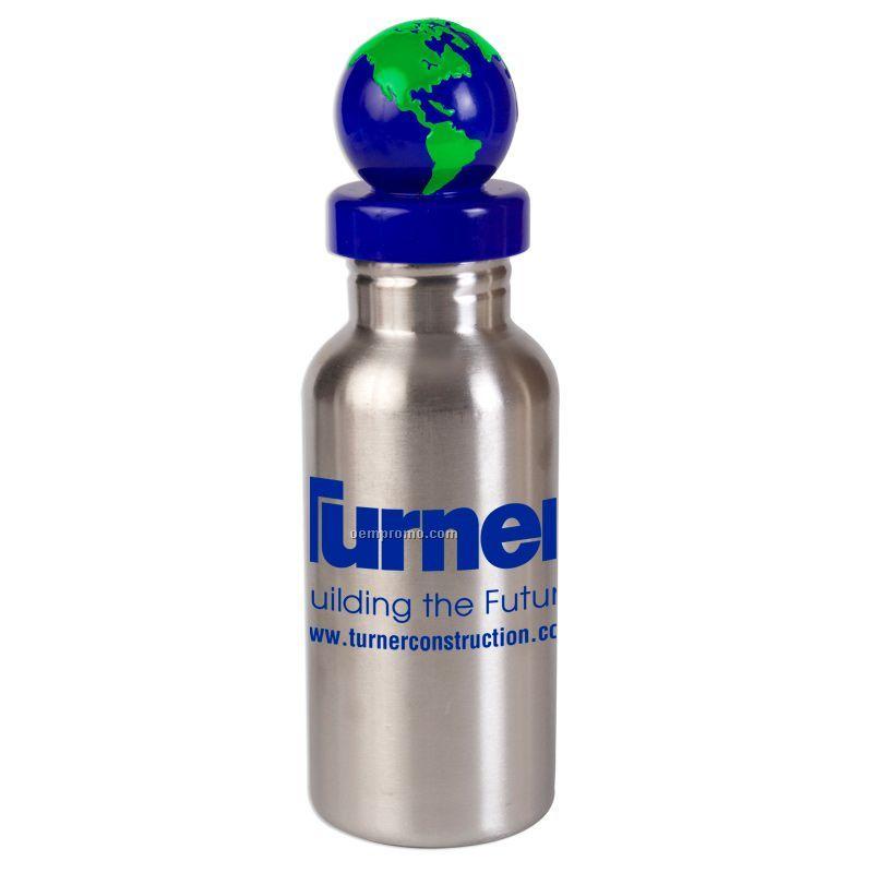 17 Oz. Stainless Steel Bottle W/ Global Lid