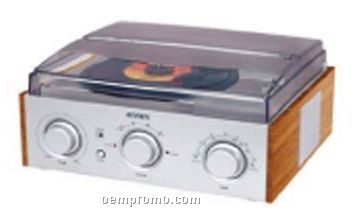 3 Speed Stereo Turntable With AM/ FM Stereo Radio