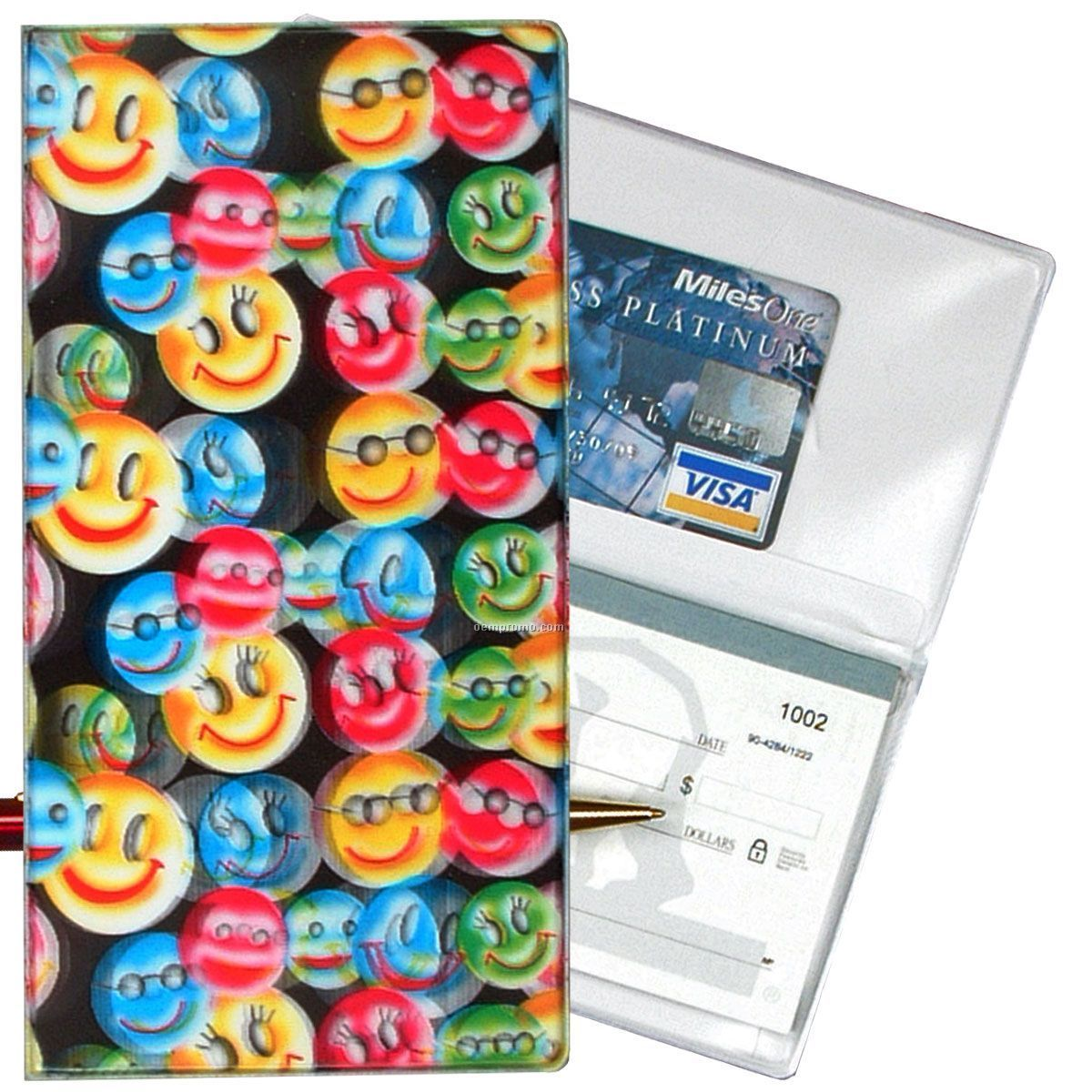 3d Lenticular Checkbook Cover (Sunglass Smiley Faces)