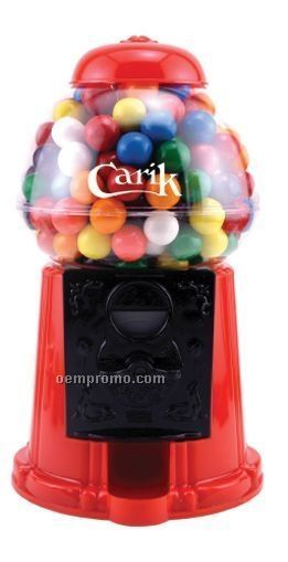 """9"""" Plastic Gumball Machine W/ Jelly Beans (2 Day Service)"""