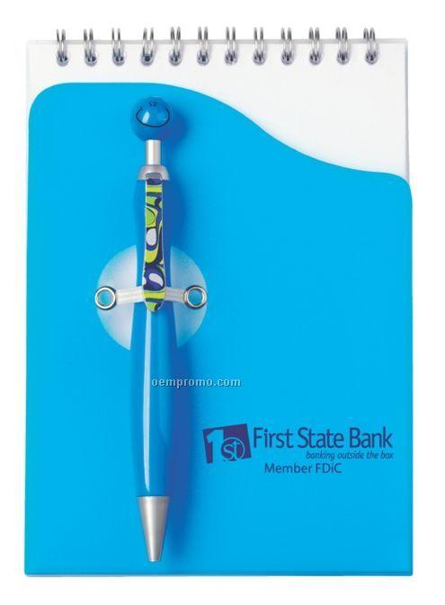 Blue Swanky Pen & Pad Set