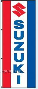Double Face Dealer Interceptor Drape Flags - Suzuki