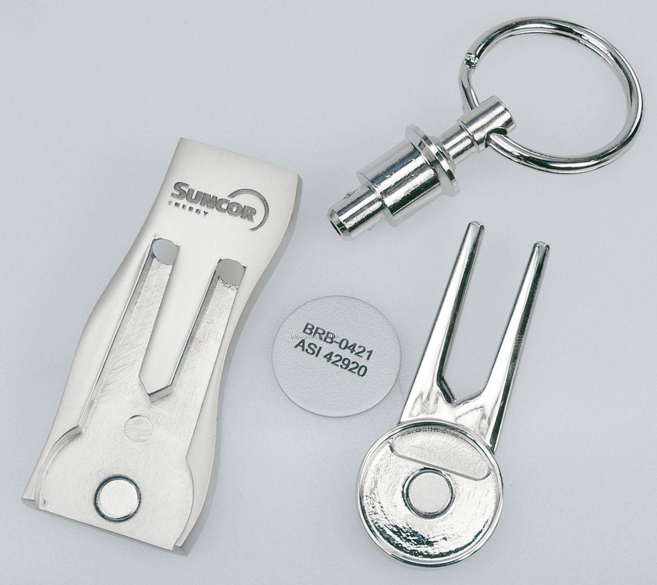 3-in-1 Golf Key Holder/ Ball Marker/ Divot Tool
