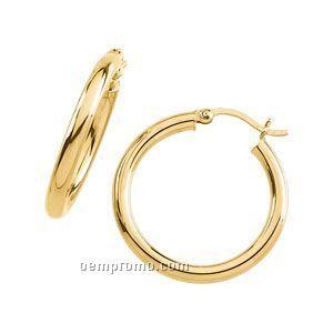 Ladies' 14ky 30mm Heavy Hoop Earring