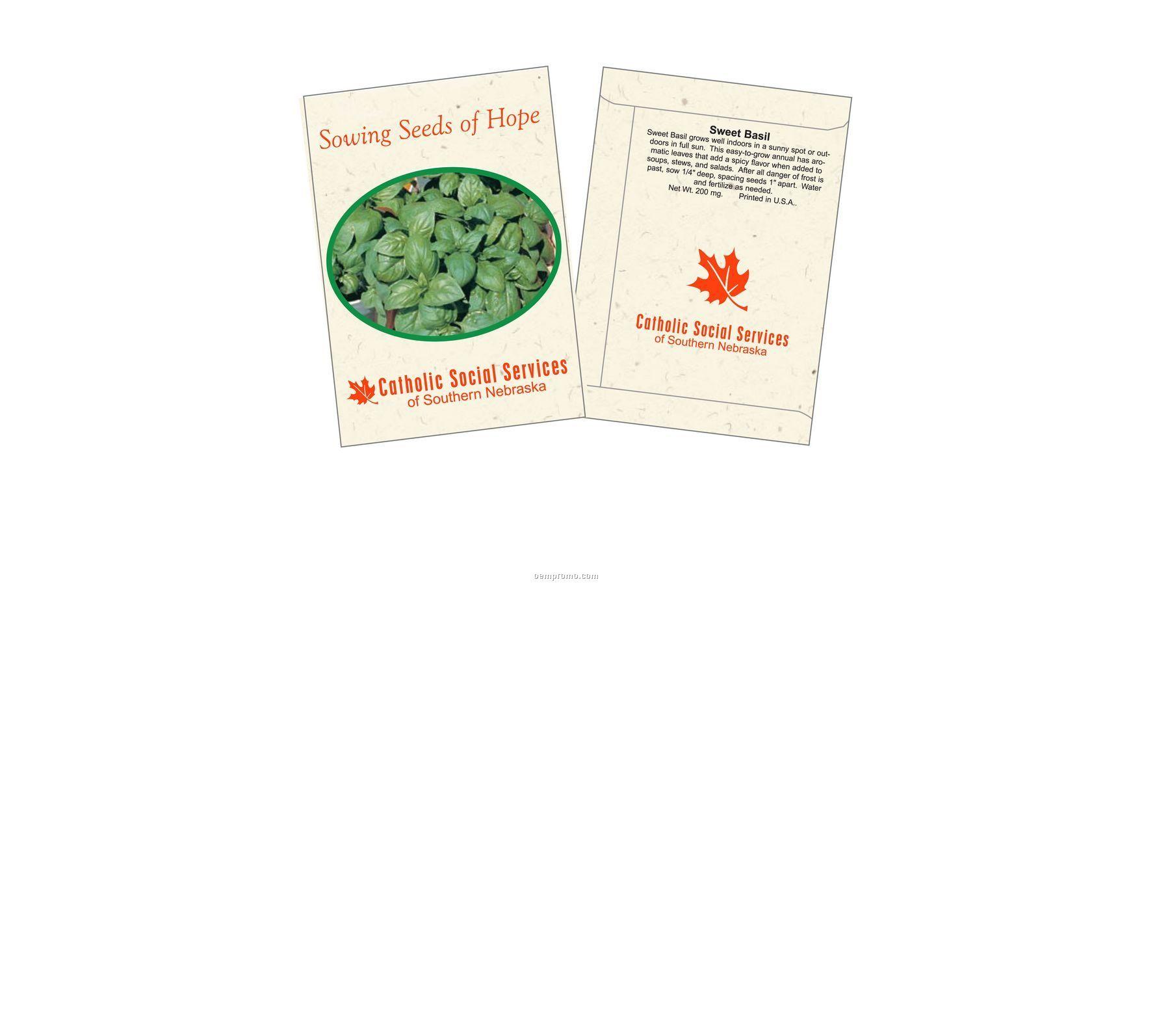 Sweet Basil Herb Seed Packet (1 Color)