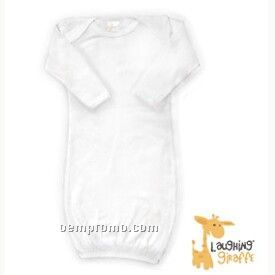 White Infant Long Sleeve Cotton Gown