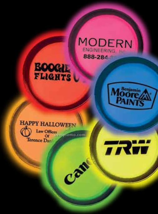 "3"" Circle Shaped Glow Badges"
