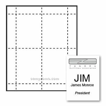"""Classic Name Tag Paper Insert - 1 Color (3""""X4 3/4"""")"""