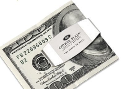 2-tone Silver Money Clip