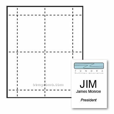 """Classic Name Tag Paper Insert - 2 Color (3""""X4 3/4"""")"""