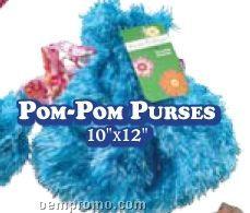 Freckles & Maya Girls Pom-pom Purses In Island Blue