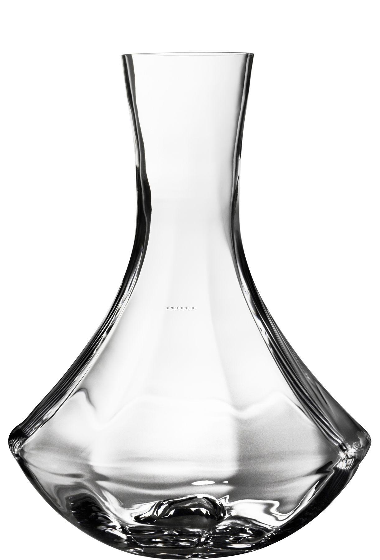 Linne Glass Carafe W/ Flared Base By Goran Warff