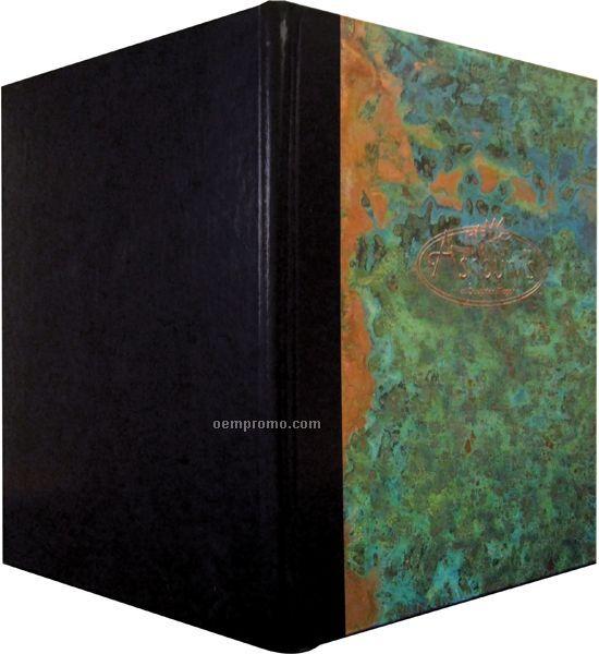 "Patina Copper Menu Cover-style 2 View (5-1/2""X8-1/2"")"