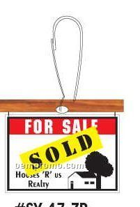 Sold Sign Zipper Pull