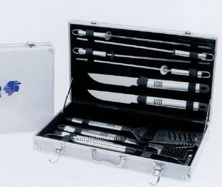Stainless Bbq Tool Set - 10 Piece