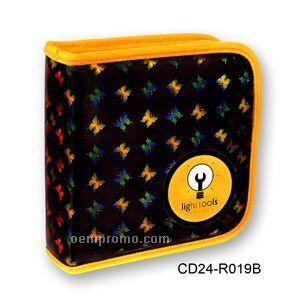 3d Yellow Lenticular CD Wallet/ Case - 24 Cd's (Butterfly )
