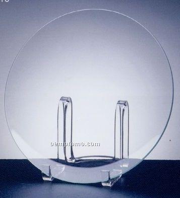 "Jade Glass Round Plate Award (10"")"