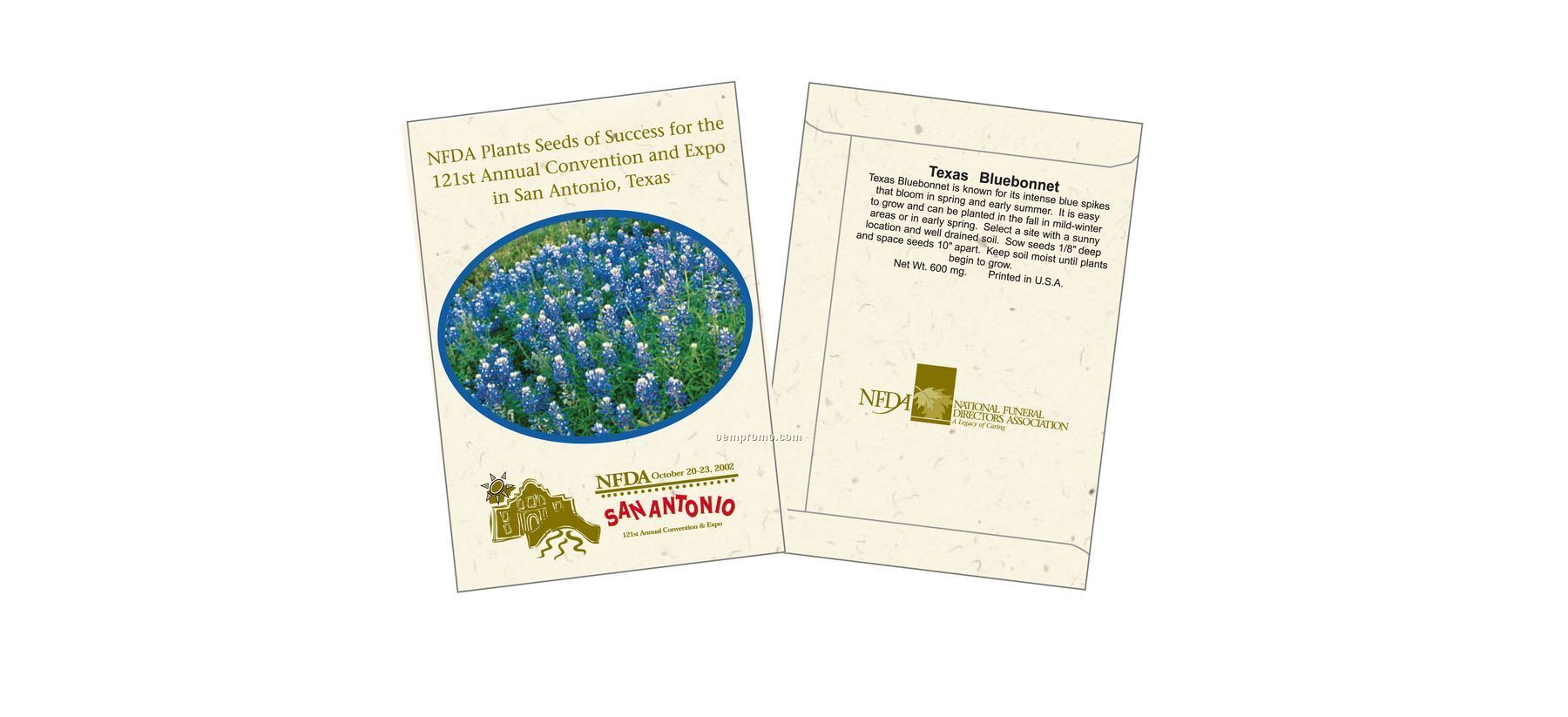 Texas Bluebonnet Seed Packet (2 Color)