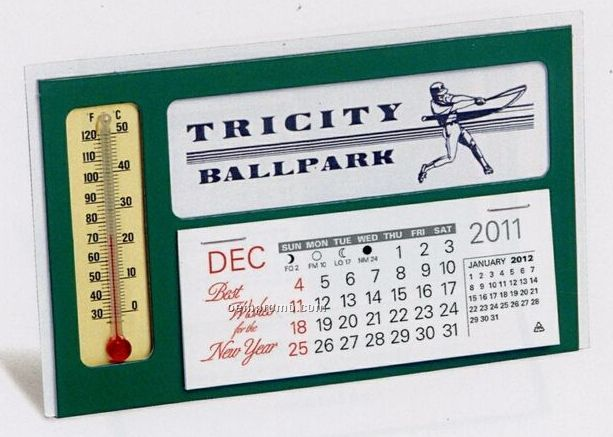 The Window Warwick Premier Desk Calendar With Thermometer (January - April)