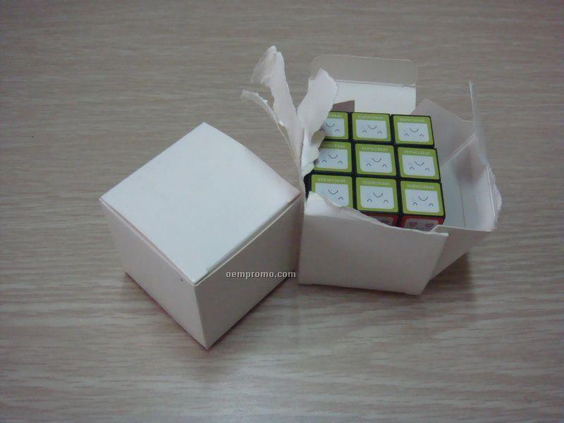 "4 Color Proces Cube In 4 Color Process Gift Box, 2 1/8"""