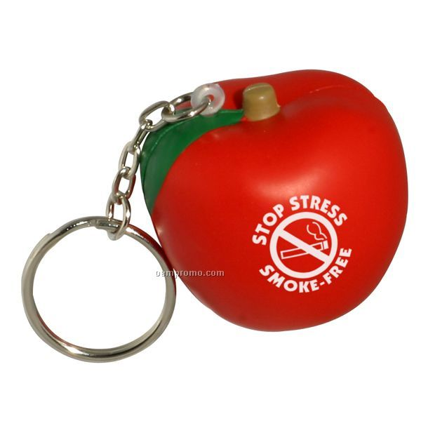 Apple Key Chain Squeeze Toy
