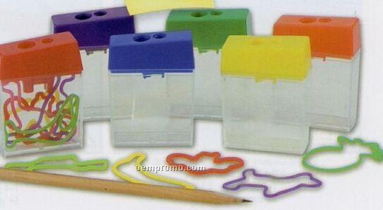 Dual Sharpener W/ 5 Rubber Bracelets