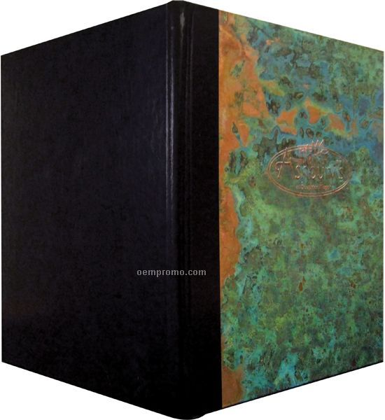 "Patina Copper Menu Cover-style 3 View (4-1/4""X11"")"