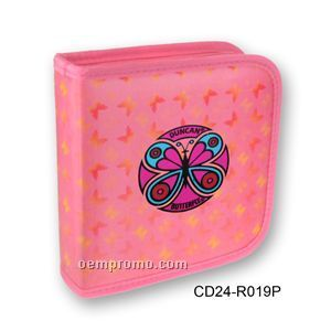 Pink 3d Lenticular CD Wallet / Case - 24 Cd's ( Butterfly)