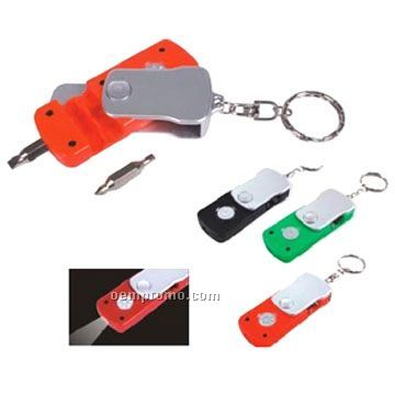 Screwdriver Set W/ LED Light Keychain