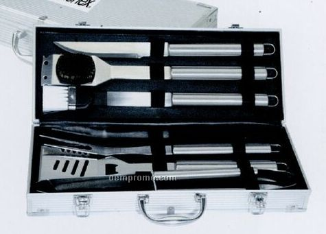 Stainless Bbq Tool Set - 6 Piece