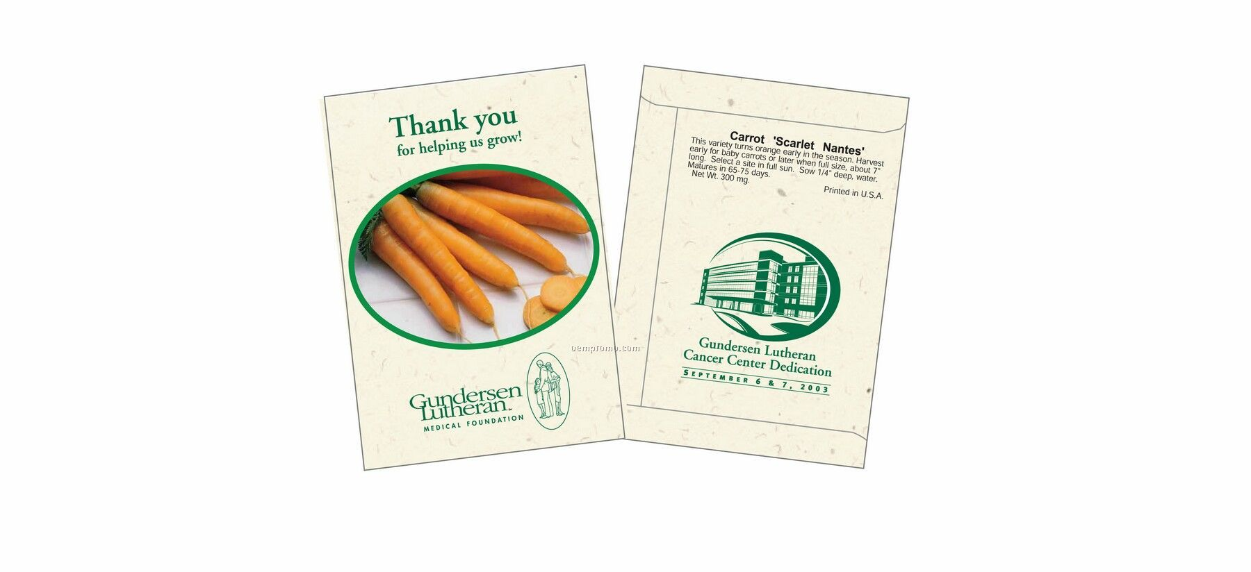 3026 Carrot Packet 1 Color Imprint